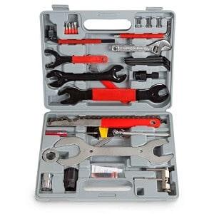 para-bicicleta-tectake, caja de herramientas para bicicleta