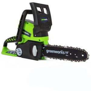 sierra-electrica-greenworks, motosierra electrica